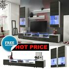 Furniture Living Room Set Stand Gloss TV Unit Modern Cabinet Cupboard Wall Shelf