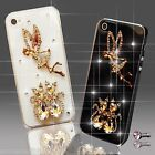 BLING DELUX TINKERBELL ANGEL SKULL DIAMOND CASE COVER 4 SAMSUNG iPHONE SONY HTC