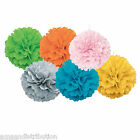 WEDDING & PARTY DECORATIONS HANGING PUFF BALLS POMPOMS POM POMS