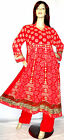 Shalwar Kameez Anarkali Stitched Pakistani Designer Red Sari Hijab Dress Suit 18
