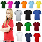 Ladies Loose Fit T-Shirt Size UK 10 to 30 Plus Classic Plain 100% Cotton Unisex