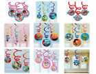 DISNEY HANGING PARTY SWIRL DECORATIONS Mickey, Minnie, Planes, Monsters Uni, Car