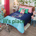 Twin,Full/Queen Girls and Teens Summer Ride Comforter Set w/curtains