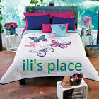 Girls and Teens Butterfly twin and Queen Comforter Set wi...