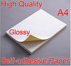 A4 White Glossy Self-adhesive Sticker Sticky Back Label Printing Paper Inkjet