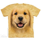 The Mountain Golden Retriever Puppy Face Adult Men T-Shirt S-2XL Short Sleeve