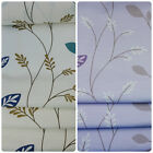 Linen Leaf Design Curtain Fabric - 2 Colours (Per Metre)
