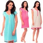 Purpless Maternity 2in1 Cotton Star Print Pregnancy and Nursing Nightdress 5038n
