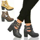 NEW WOMENS GIRLS CHUNKY BLOCK HEEL GRIP SOLE CHELSEA ANKLE BOOTS SHOES SIZE 3-8
