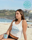 Bondi Tea Fitted Crop Top Yoga Activewear Beach Lifestyle S M L