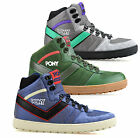 Mens Pony Beater Leather Hi Tops Walking Hiking Ankle Boots Trainers Shoes Size