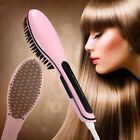 Xmas Gift Electric Hair Straightener Comb LCD Iron Brush Auto Hair Massager Tool