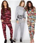 Ladies Womens Celeb Inspired Multi Camouflage Casual Tracksuit Loungwear