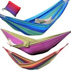 One Person Portable Parachute Camping Hammock Travel Outdoor Swing Single Size
