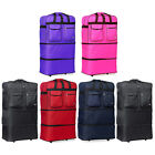 """30"""" L Expandable Rolling Wheeled Duffel Bag Spinner Suitcase Duffle Bag Luggage"""
