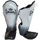 Top King Boxing Muay Thai Shin Guards Super Star TKSGSS-01 Silver Size S-M-L.