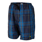 "SPEEDO MENS CHECKED  LEISURE 18"" SWIMMING SHORTS - NAVY - BNWT"