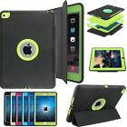 Heavy Duty Hybrid Shockproof Flip Stand Smart Case Cover For iPad / Air / Mini