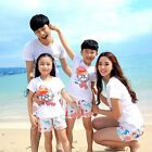 Cotton Summer family look clothes outfits Holiday kids girl sets t shirt Pants
