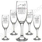 PERSONALISED Wedding Role Champagne Flutes Glasses - Glass Toasting Set Gifts