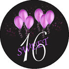 Sweet Sixteen Personalized Birthday Edible Frosting Sheet Cupcake Cake