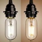 2W 4W Homestia LED Bulb Clear Glass Warm White T45 E26 E27 Lamp Home Light NEW