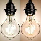 G80 LED Bulb 4W 6W Clear Glass Edison Globe E27 85V-220V Vintage Lamp Light NEW