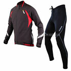 Sobike Cycling Suits Fleece Winter Jacket-Aurora ,Fleece Tights-Cruise Black