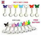 Stainless Steel Nurse Fob Watch BUTTERFLY Brooch Tunic Watches + FREE BATTERY B3