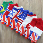 1 Pair Men Trendy Ankle Socks Low Cut Crew Casual Sport Color Cotton Socks