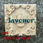 7x7cm Wood Carved Long Square Applique Working Frame Decal N38 1/2/4/10PCS