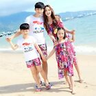 Summer Family clothes Bohemia mother daughter chiffon dresses father Boys sets