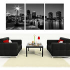 Boston Skyline easy-hang mounted picture canvas wall art/better than stretched
