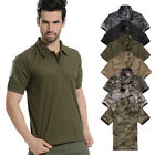 NEW MEN'S FAST DRY CAMPING SHIRT COMBAT CASUAL ARMY TACTICAL SHORT SLEEVE SHIRTS