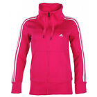 Adidas womens pink cotton blend 3 stripe fleece track top jacket M66286  XXS 0-2