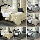 Luxury Bedspread 3Piece Jacquard Quilted BedSpread; Comforter Set Double & King