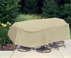 "Waterproof Outdoor Patio Furniture Table&Chair Oval/Rectangle 135"" x 80"""