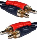 Twin 2 x RCA Phono Male to Male Stereo Audio Left Right Gold Plated Cable Lead