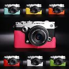 Genuine Real Leather Half Camera Case Bag Cover for Olympus PEN-F PEN F 7 colors