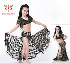 New 2016 Child Kids Belly Dance Costumes Suit Set Lace 2PCS Top Skirt S M L