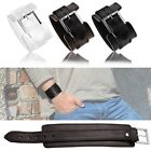 Male Leather Surfer Wristband Black White Brown Mod. Nevadaa 5 cm width