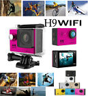 "2"" LCD Wifi 12MP HD 1080P Bike Helmet Cam Sports DV Action Waterproof Camera H9"