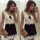 Women's Sexy Bodycon Lace Dress Evening Party Cocktail Bodycon Mini Dress A228