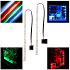 2 X modding PC Case LED strip light 30cm LED long molex connector 4 Colours