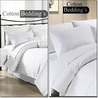 OFFER 1000 TC UK Size Hotel Duvet Set & Pillows Cases in White Solid & Striped