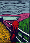 Andy Warhol The Scream Edvard Munch print canvas 8x12 & 12x17