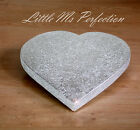 DIAMANTE CRYSTAL SILVER GOLD  HEART  SHAPED WEDDING WOODEN CAKE STAND