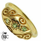 BJC® 9ct Yellow gold Peridot 0.15ct Gypsy size M engagement ring R149