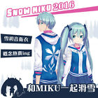 Hot Style !VOCALOID Hoodie Snow Hatsune Miku Hooded Sweaters Coat Cosplay Wear