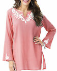 Women's UK PLUS Size 8 - 30 Long Cotton Tunic Top